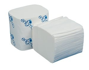 Interleaved 2 Ply White Bulk Pack Toilet Tissue
