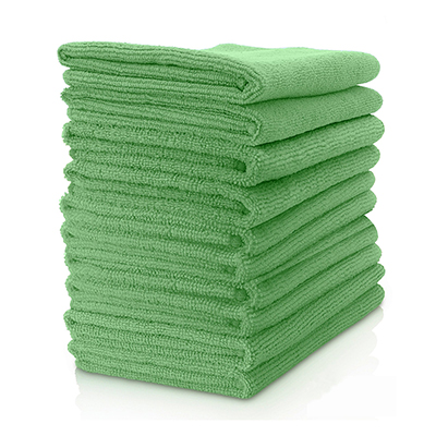 Microfibre Cloth - Lightweight (Green) Pack of 10